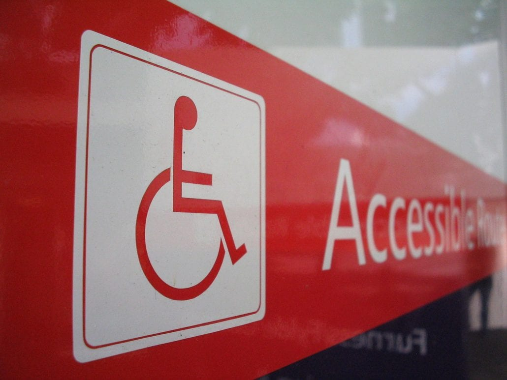 accessible route for disability insurance