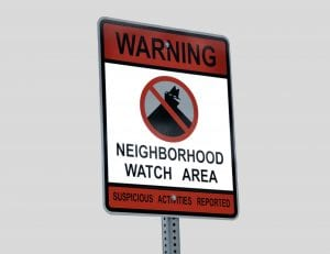 renters insurance and neighborhood watch area