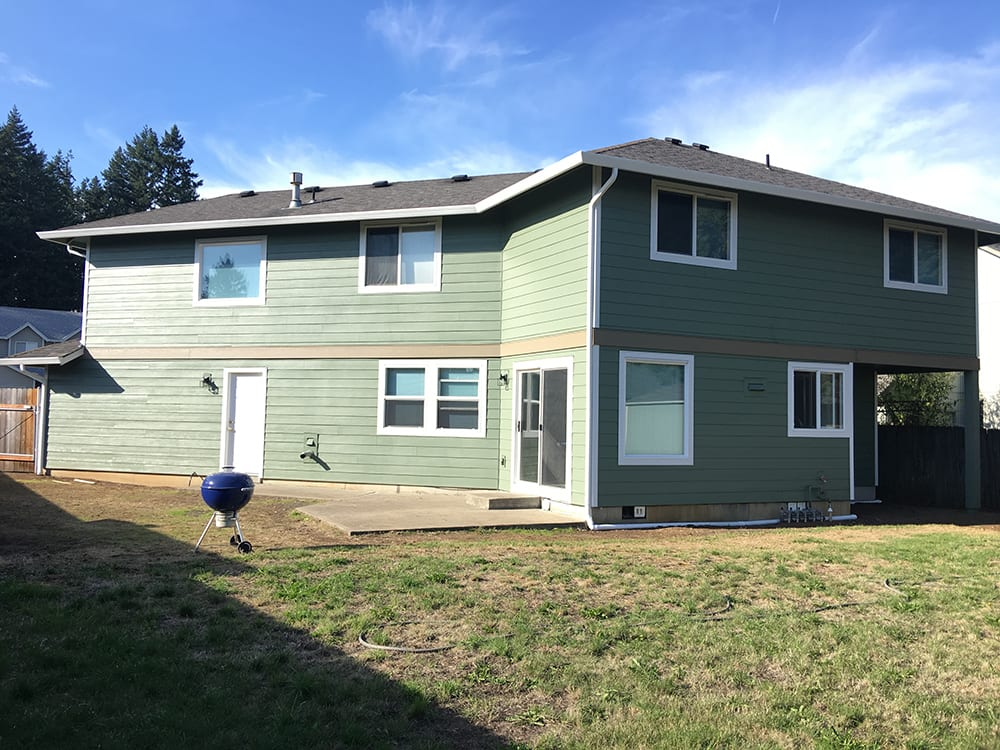 after siding green house