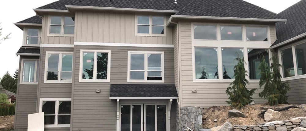 new taupe siding