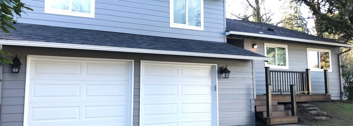 new siding on a home