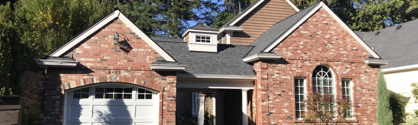 new roof example on a brick home