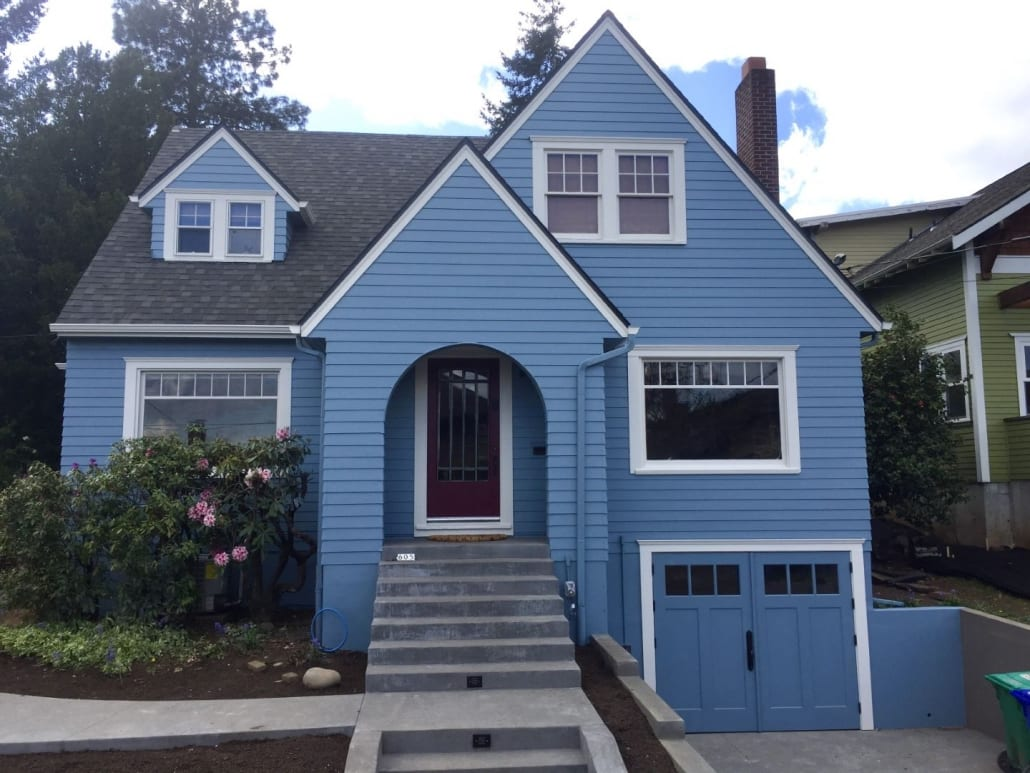 Before and after new siding image in portland