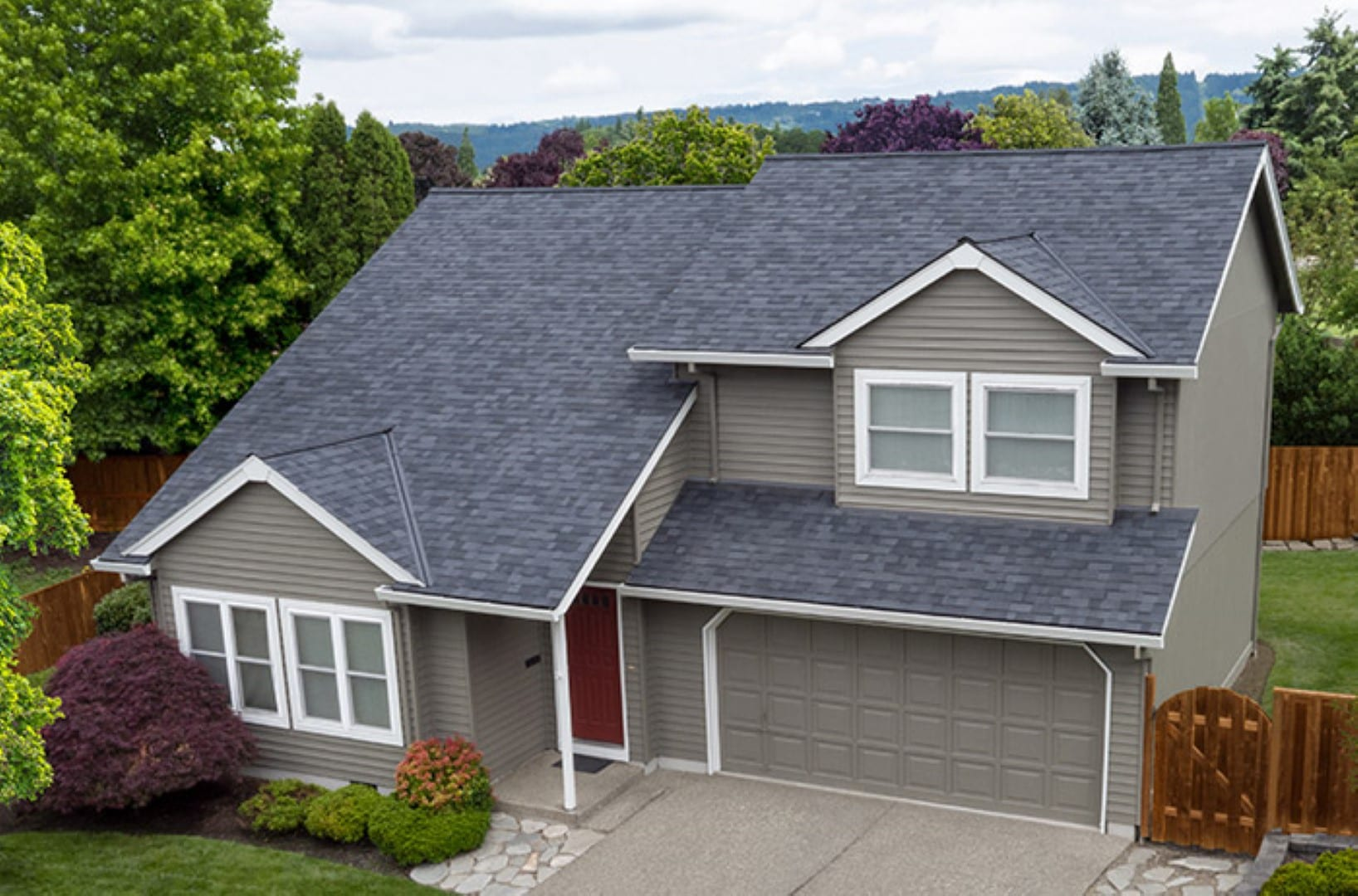 New Malarkey Roof from above in Portland neighborhood