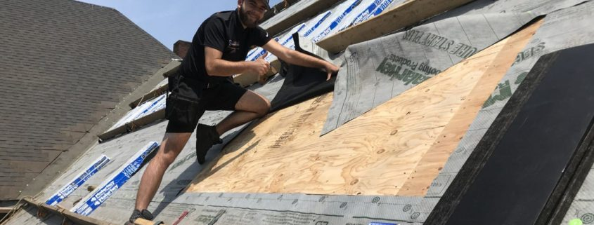 Malarkey Roofing installation project by owner Kirill on roof