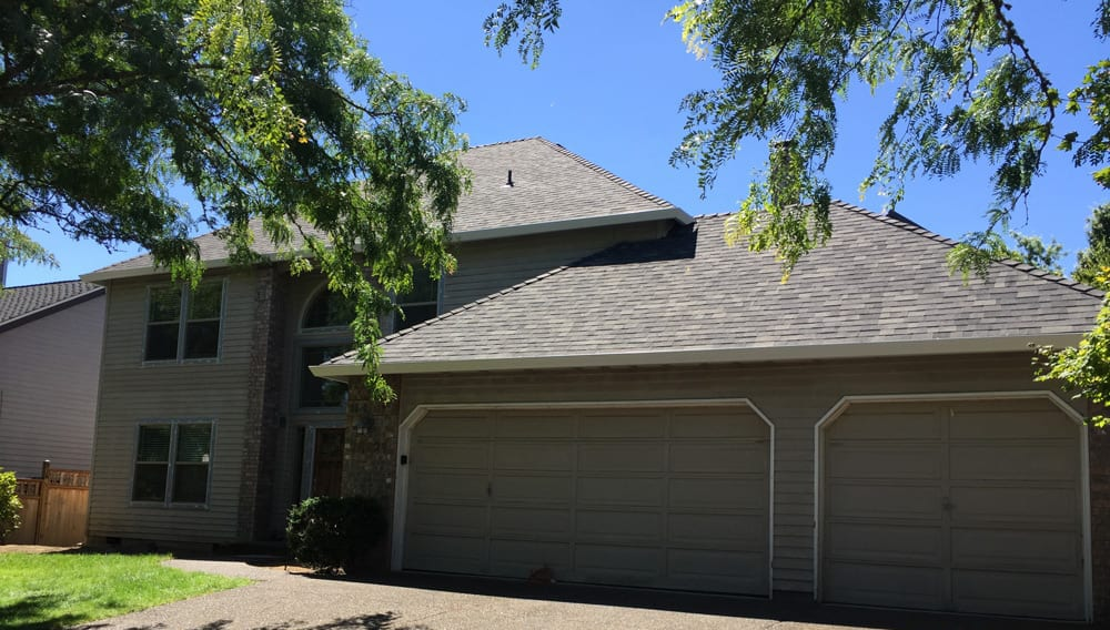 After new roofing installation on home in Portland
