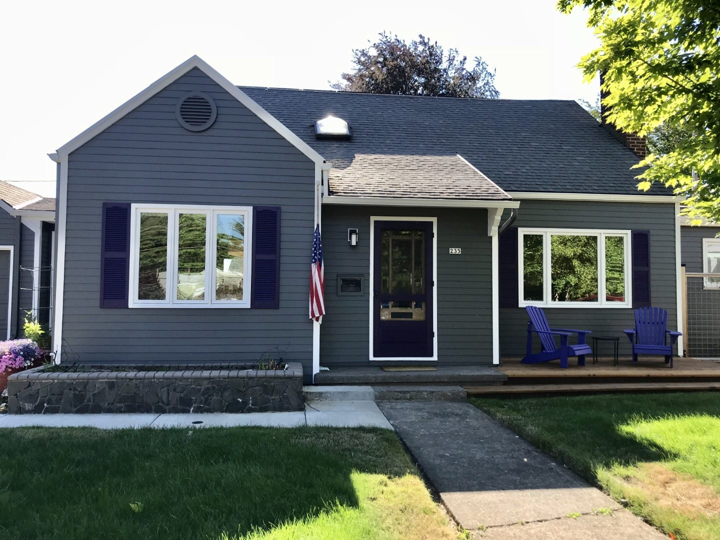 After Smooth James Hardie Lap Siding installation