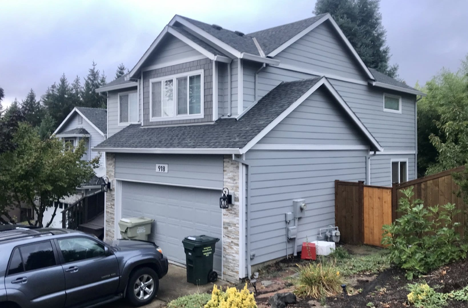 After install of New James Hardie Siding & Boral Stone