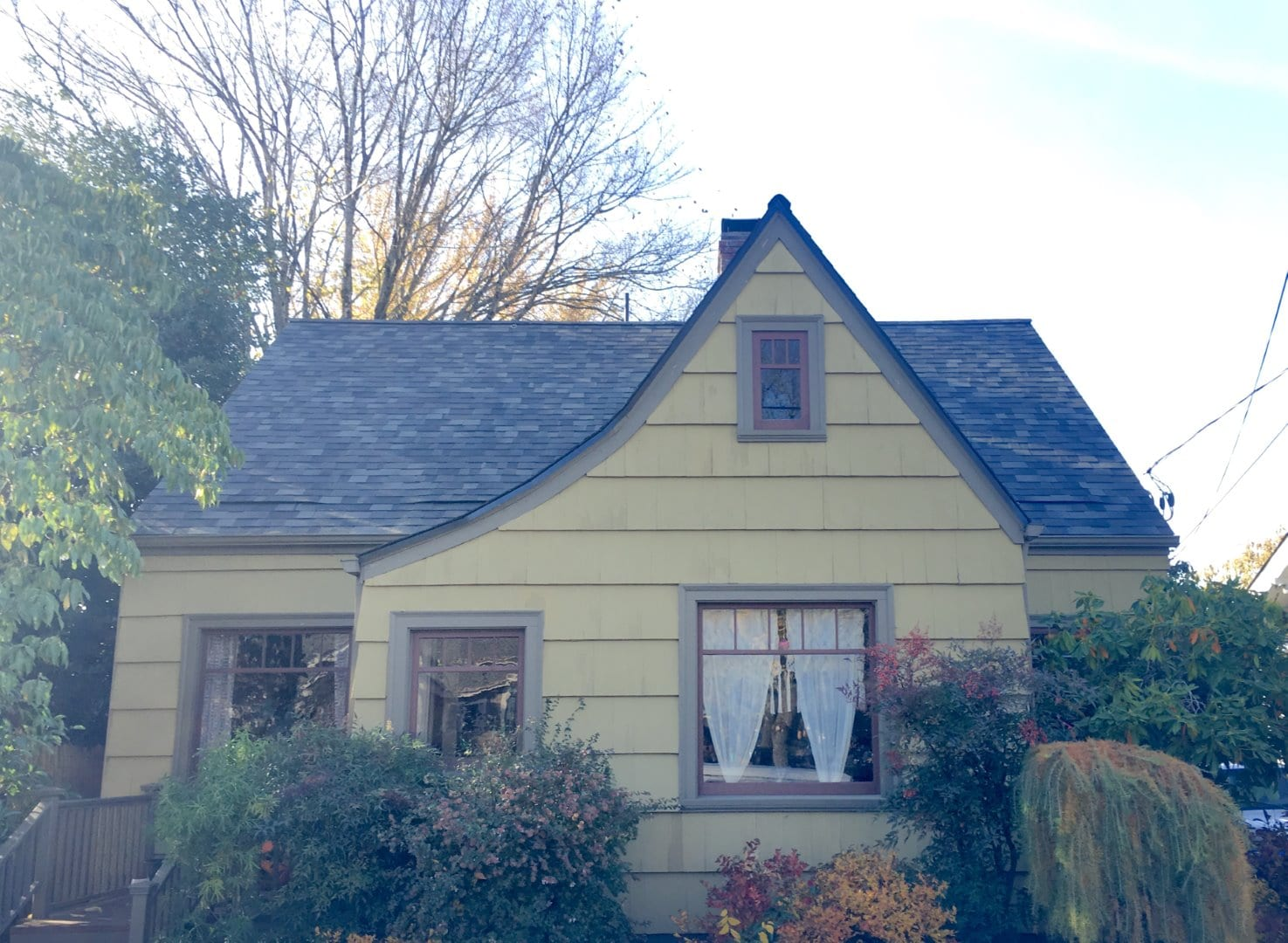 After install of New Storm Grey Shingle Roof with Extra Intake Ventilation at NE Portland home