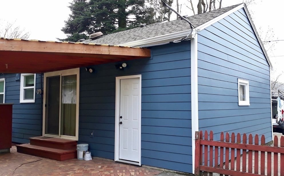 After install of Smooth James Hardie Lap Siding_Smooth Hardie Trim & Sherwin Williams Exterior SuperPaint