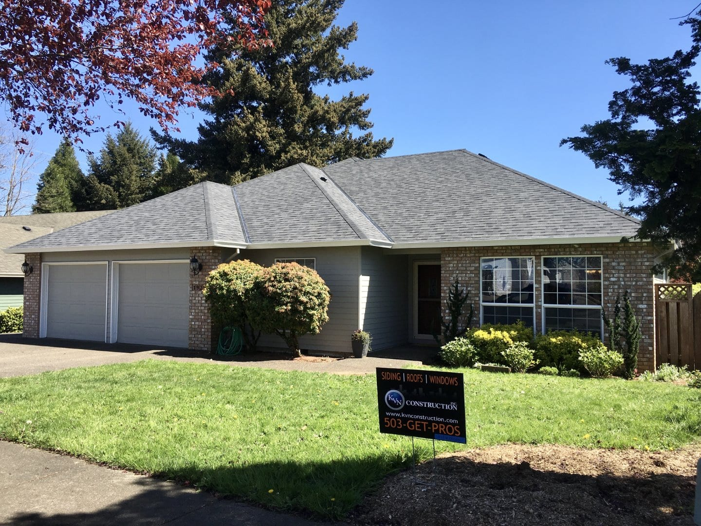 New roof installation in Oregon City after completed