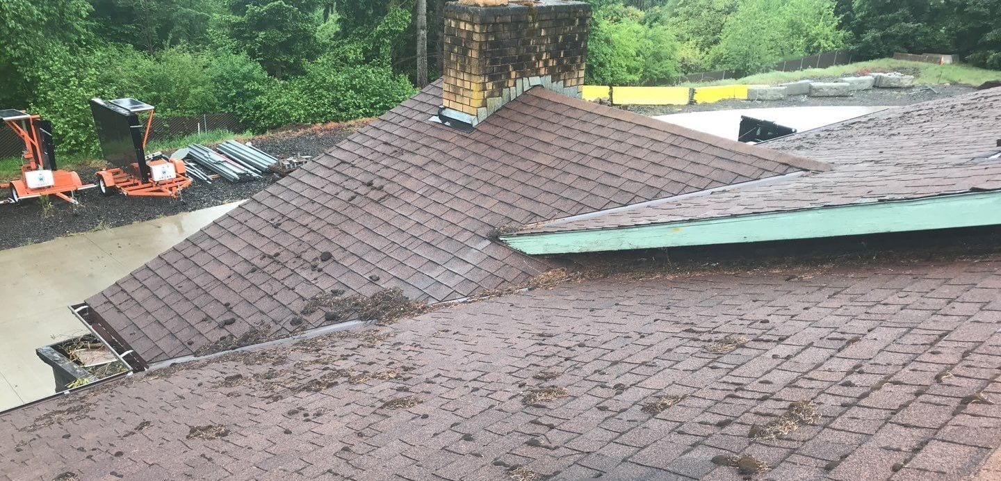 New roof install in Sherwood before installation