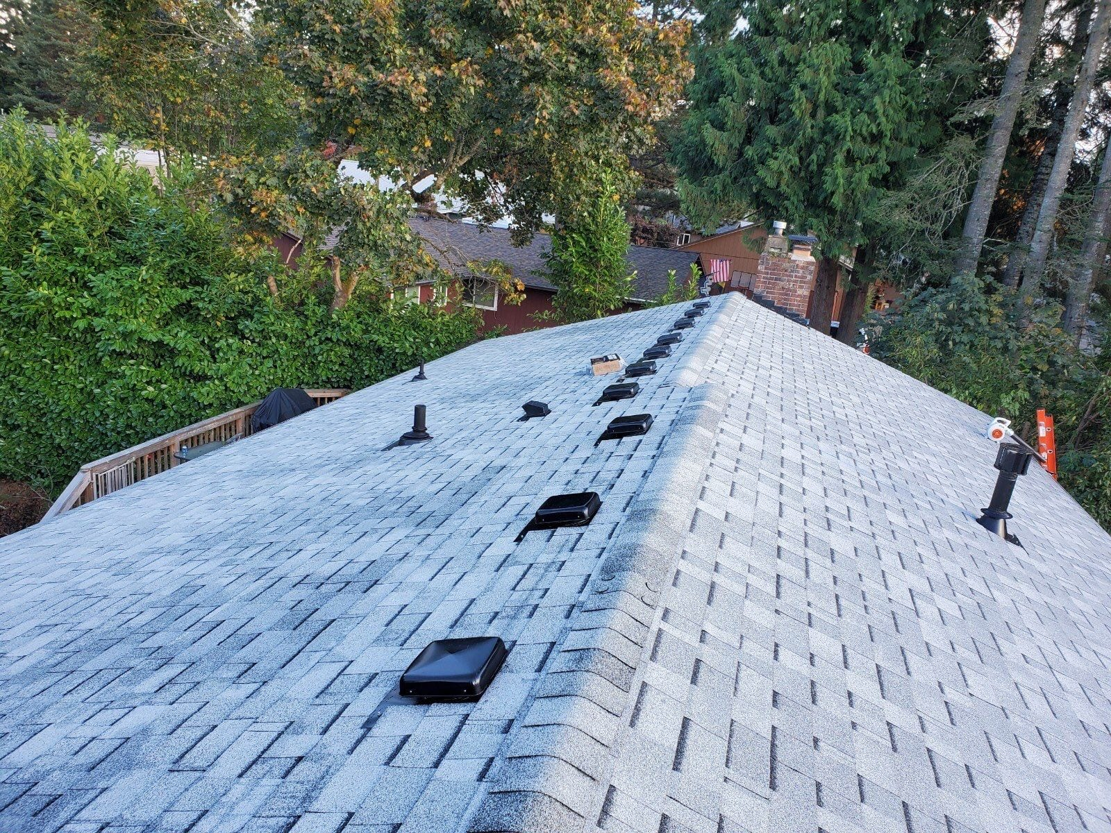 New Malarkey Roof from above in Sandy Oregon