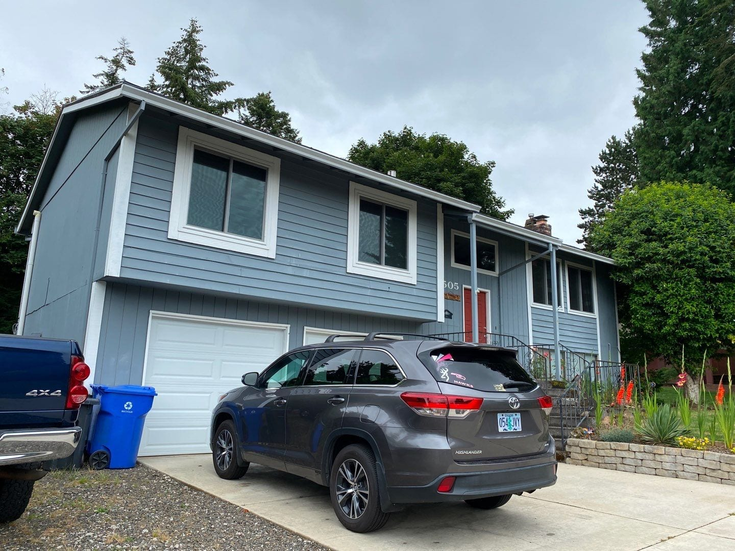 Before new siding is installed on home in Sandy Oregon