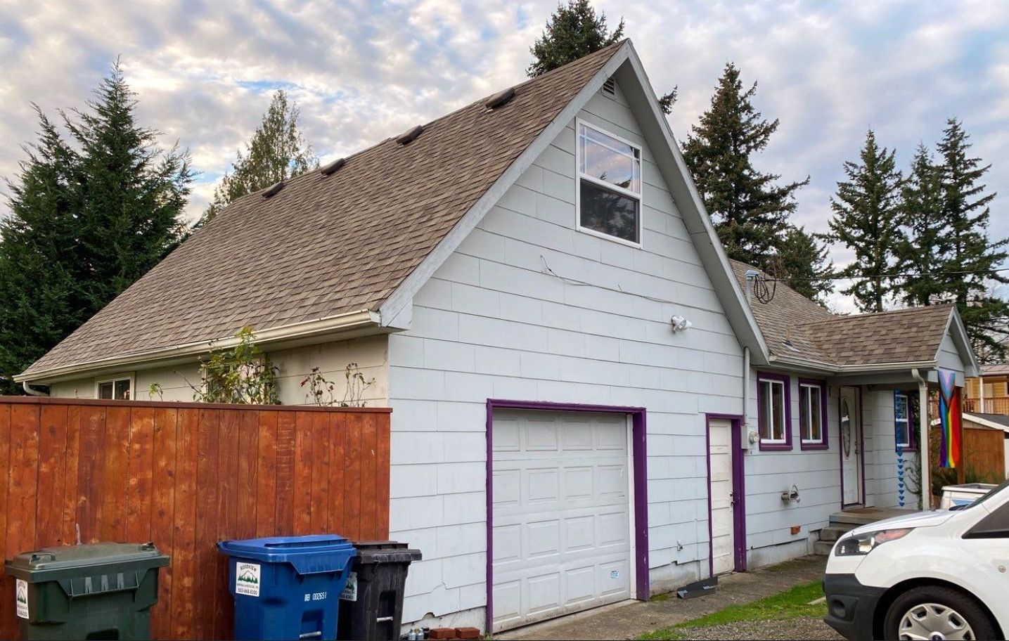 SE Portland home before removal of old roof and install a new roof in Portland