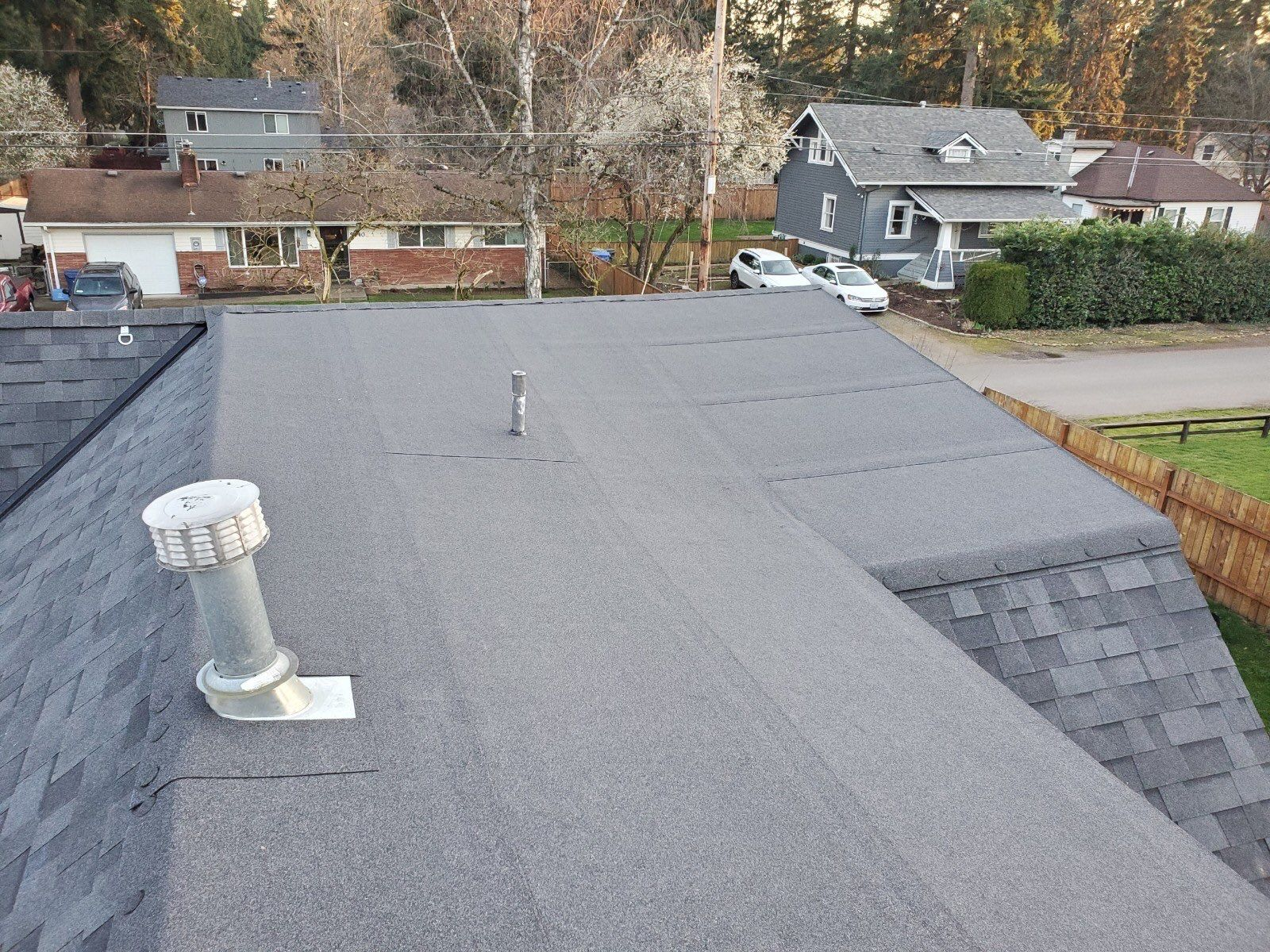 SE Portland home after installation of new roof in Portland