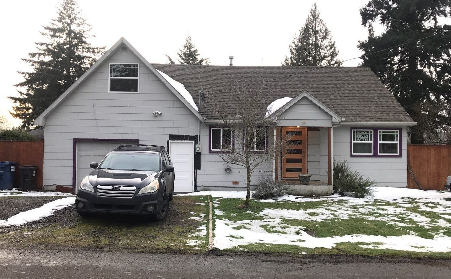 Before SE Portland home had removal of siding and replaced with new siding