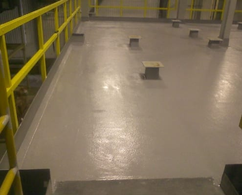 Yamasa soy plant epoxy flooring non skid installation in Oregon