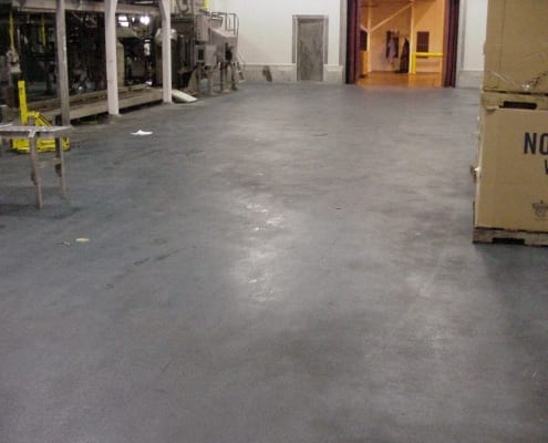Norpac Foods polyester flooring install in Oregon