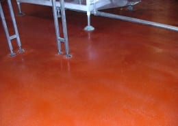 Pepsi Bottling Polyester with non skid surface flooring installation