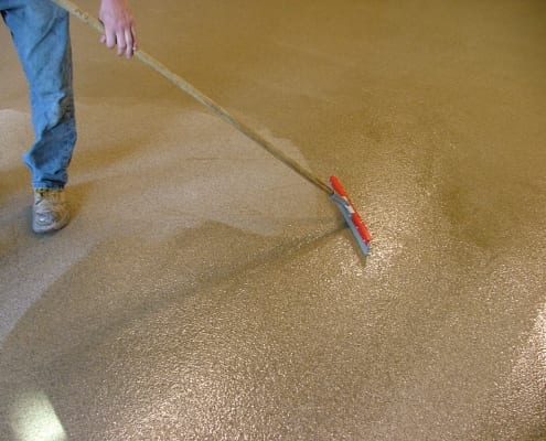 August Cellars Epoxy floor with non skid winery flooring installation in Oregon