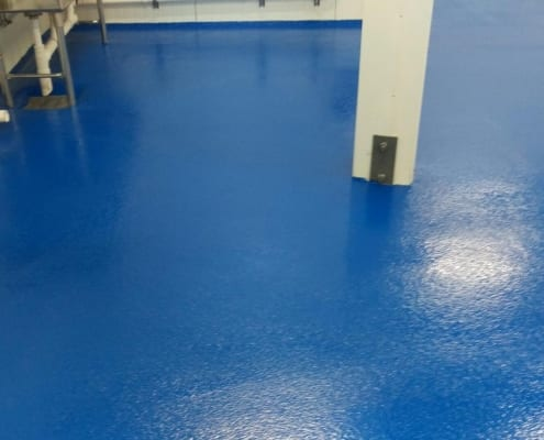 Yogurt plant epoxy floor install seattle