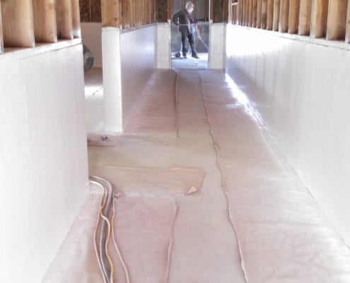 Dairy polyester fiberglass walls and polyester floors installation Oregon
