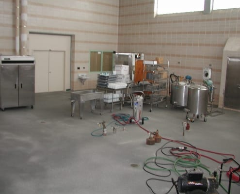 Cheese plant polyester floors in Oregon