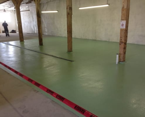 Brewery epoxy resin floor installation in Boise Idaho