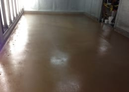 walk in milk cooler flooring installation in California