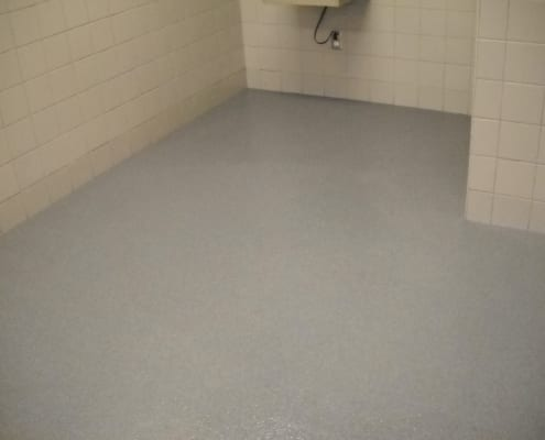 epoxy boot wash station flooring installation in Washington