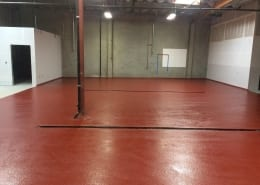 Urethane base with epoxy top coat brewery flooring installation in California