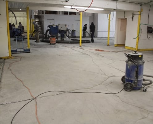 Fish processing polyester flooring installation in Washington