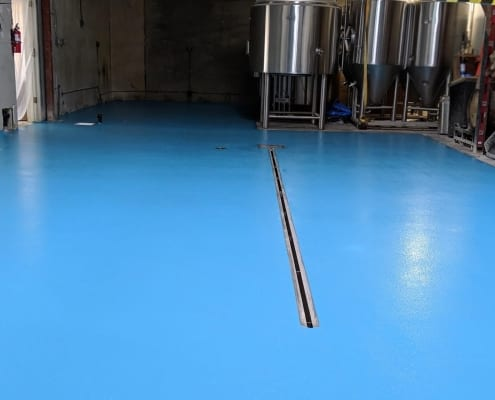 Parliament Brewing brewery flooring installation California