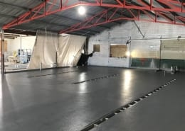 Hana Koa Brewing Hawaii Urethane flooring installation with epoxy top coats