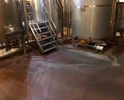 Urethane Flooring project in Anchorage Alaska at Glacier Brewhouse