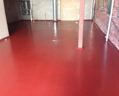 Urethane flooring install at Colorado Brewery Phantom Canyon