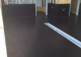 Flooring repair and epoxy flooring install at Pinthouse brew pub in Austin Texas