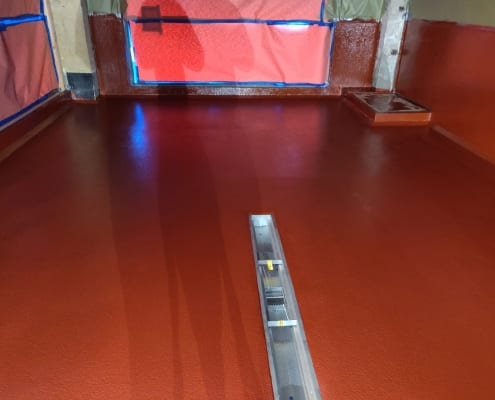 Wild Man Brewing epoxy flooring installation in Raymond Washington