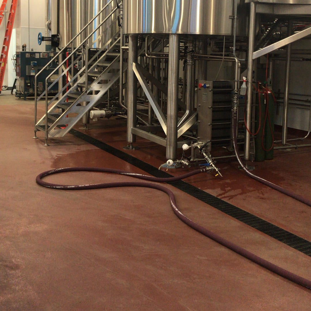 Brewery flooring installation at Great Notion Brewing in Portland Oregon