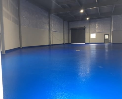 Metal casting facility industrial floors installation by Cascade Floors in Oregon
