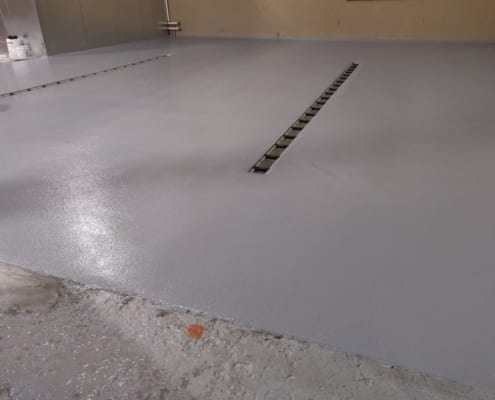 Washington Urethane base with Epoxy flooring installation by Cascade Floors