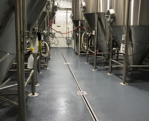 New Mexico brewery epoxy flooring installation by Cascade Floors