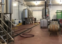 Epoxy flooring installation at Brewery in Portland