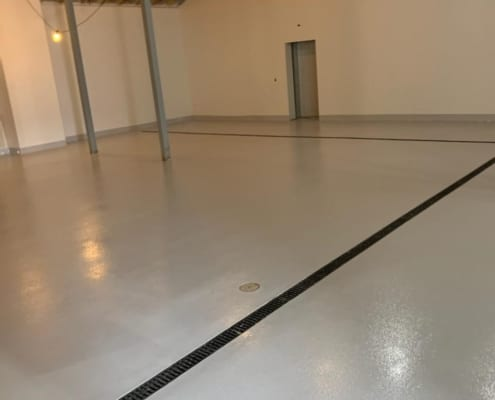 Epoxy flooring install for hemp CBD Processing facility in Oregon