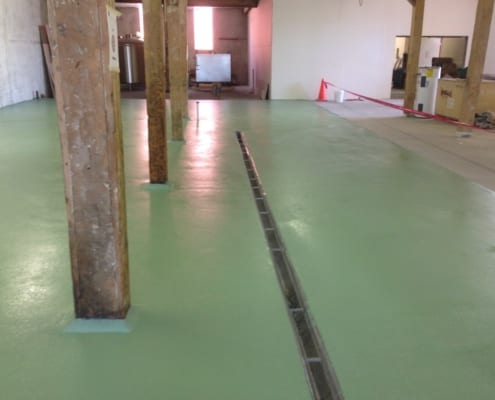 Boise Idaho epoxy brewery flooring installation