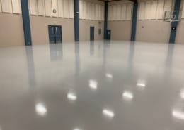 New Sherwin Williams Urethane base with epoxy top coat at National Guard sports Facility in Oregon