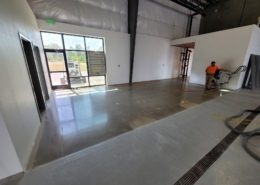 Ground polished and sealed concrete winery industrial flooring project in Salem Oregon